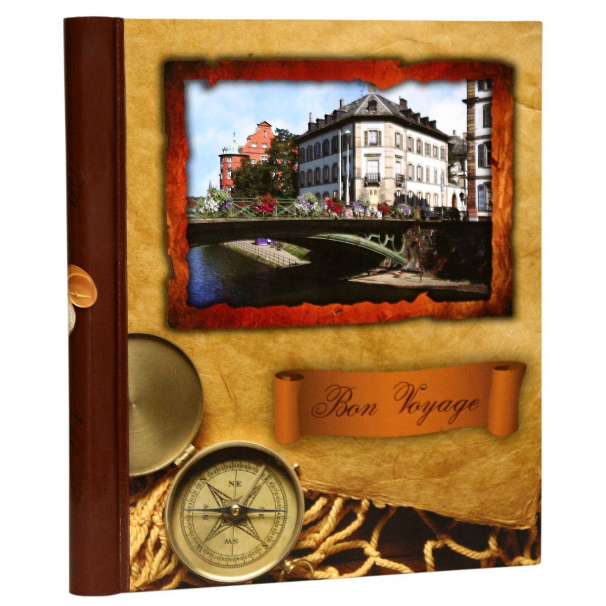 Фотоальбом Pioneer Bon Voyage, 10 магнитных листов, цвет: коричневый, 23 х 28 см фотоальбом pioneer disney valentine 20 магнитных листов 29 х 32 см lm sa20bb c