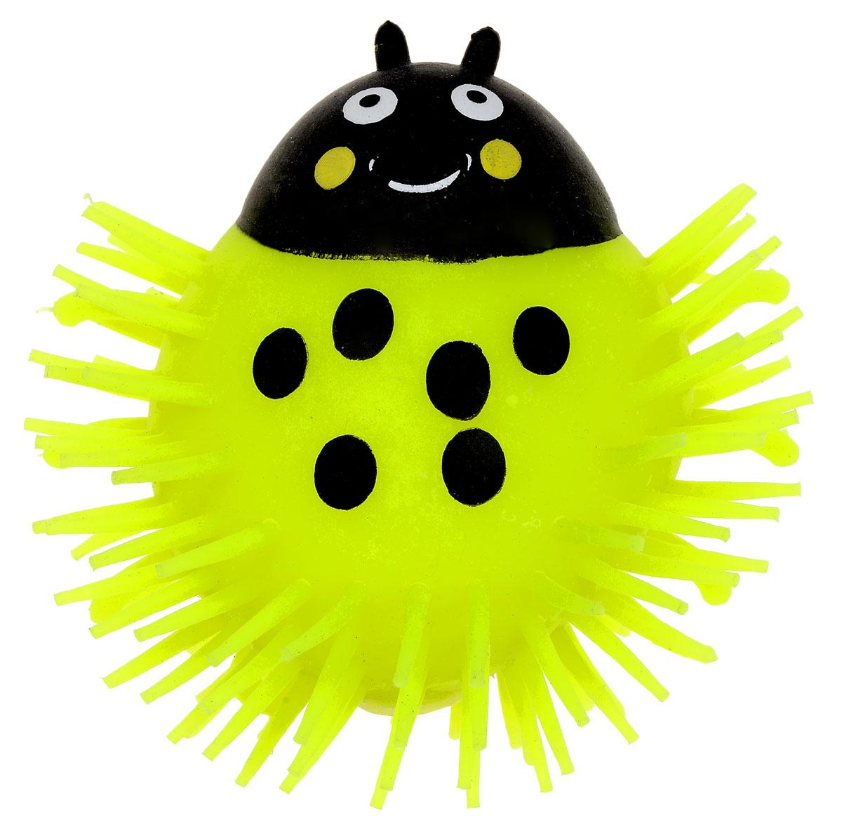 1TOY Игрушка-антистресс Ё-Ёжик Жук цвет желтый 1toy игрушка антистресс ё ёжик животное цвет розовый