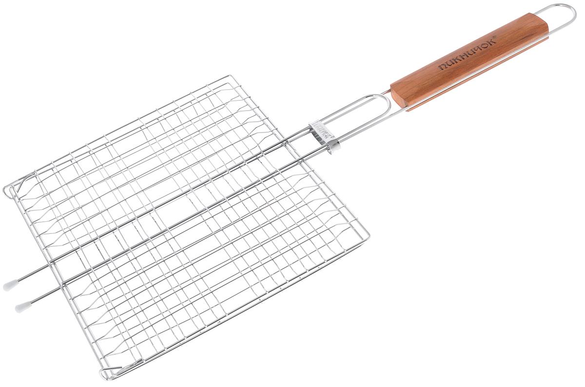 Решетка-гриль Пикничок Альпийская, 4 секции, 26,5 х 24 см цена