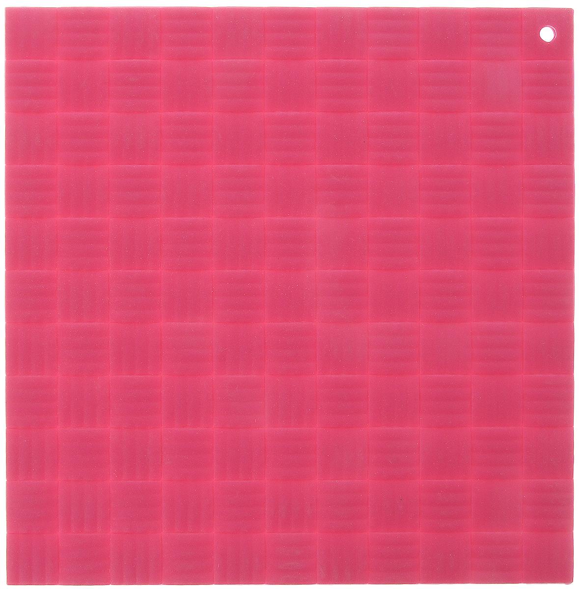 Подставка под горячее Paterra, силиконовая, цвет: малиновый, 17,5 х 17,5 см подставка под горячее paterra силиконовая цвет малиновый 17 5 х 17 5 см