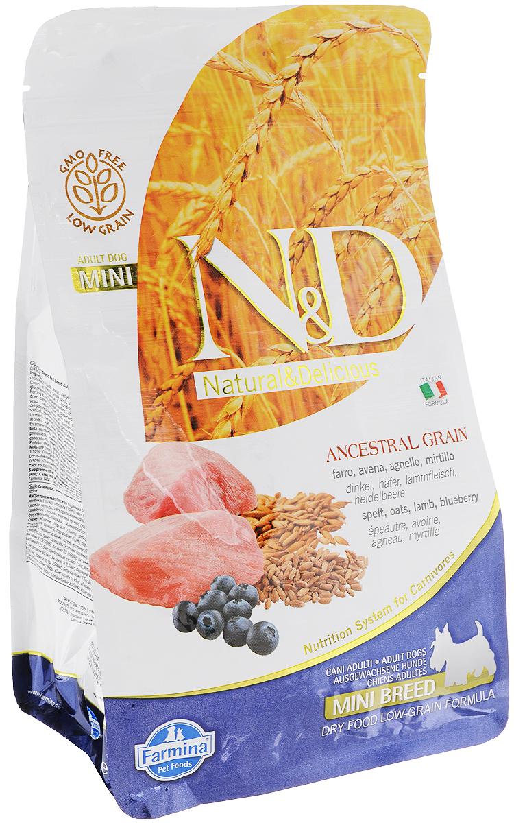 Корм сухой Farmina N&D, для собак мелких пород, низкозерновой, с ягненком и черникой, 800 г корм для животных оптом