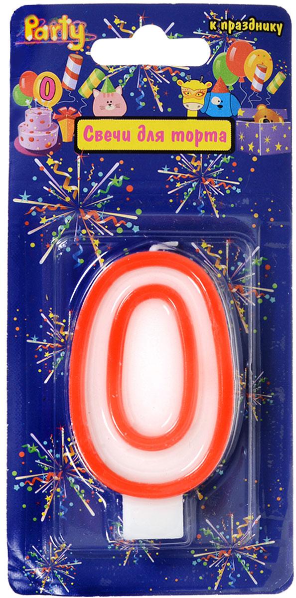 Action! Свеча-цифра для торта 0 лет цвет красный action свеча цифра для торта 7 лет цвет розовый