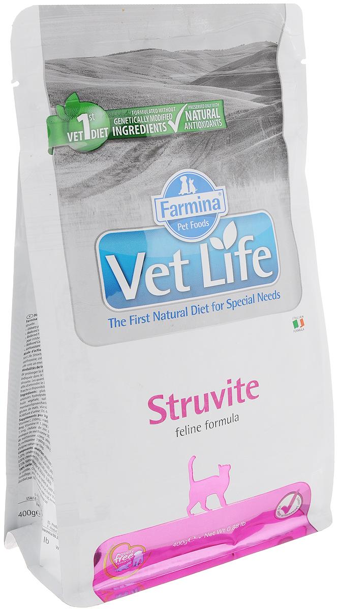 Корм сухой для кошек Farmina Vet Life, диетический, для растворения струвитных уролитов, 400 г корм сухой для кошек farmina vet life диетический для растворения струвитных уролитов 400 г