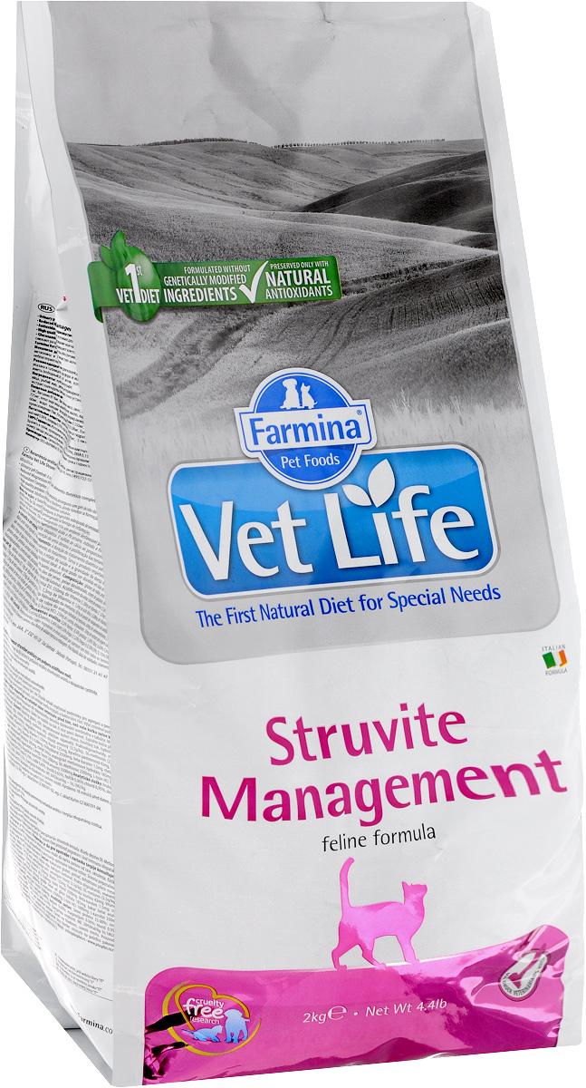 """Корм сухой для кошек Farmina """"Vet Life"""", диетический, при рецидивах мочекаменной болезни и идиопатическом цистите, 2 кг"""