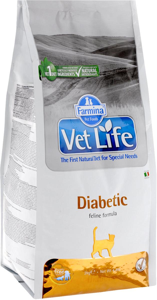 Корм сухой Farmina Vet Life для кошек с сахарным диабетом, диетический, 2 кг farmina farmina vet life cat neutered female