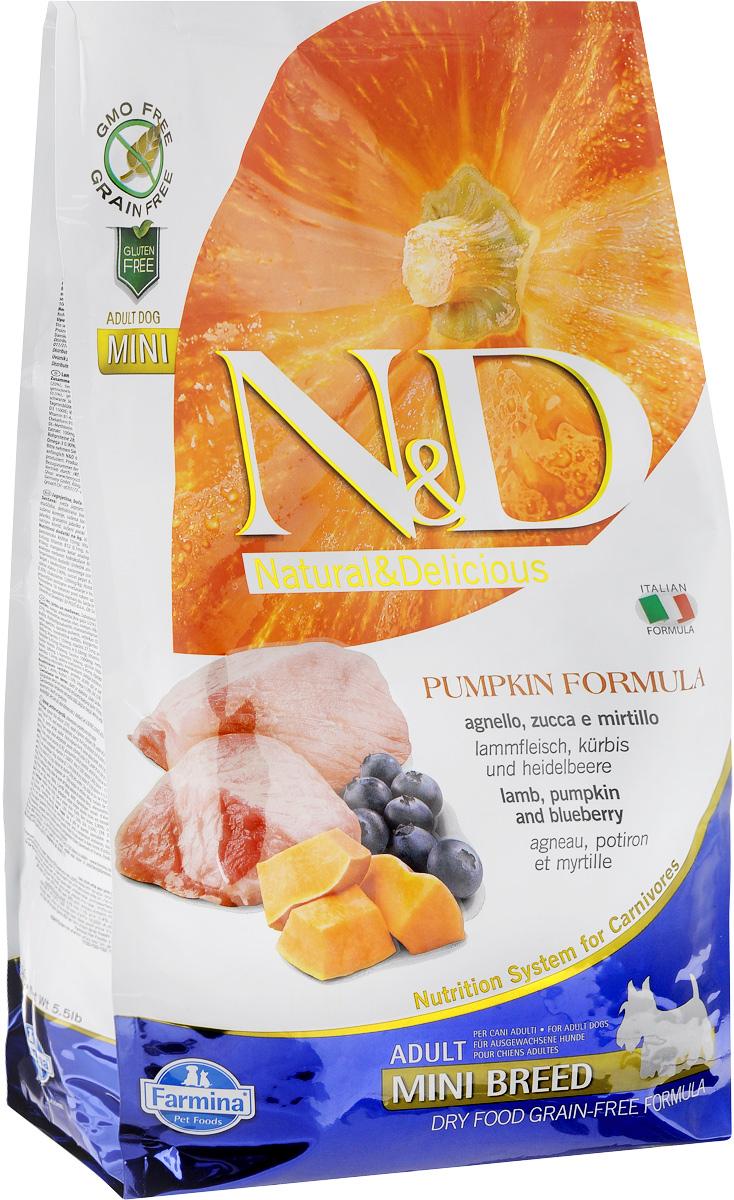 """Корм сухой Farmina """"N&D"""" для собак мелких пород, беззерновой, с ягненком, черникой и тыквой, 2,5 кг"""