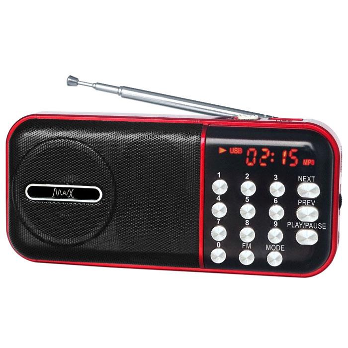 Радиоприемник MAX MR-321, Red Black цены онлайн