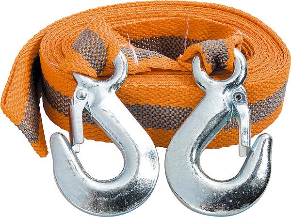 Трос буксировочный Stels, ленточный, с 2 крюками, 5 т, 5 м трос буксировочный шнурком канатный с крюками 5 т длина 5 м