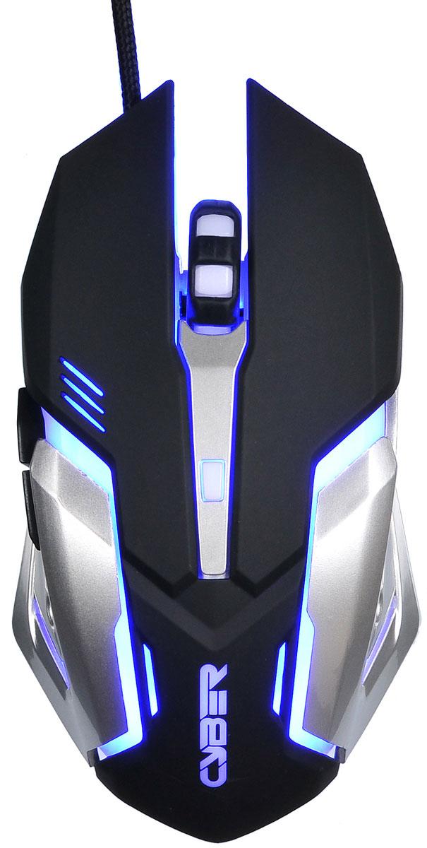 Игровая мышь Oklick 855G, Black Grey gaming mouse oklick 855g cyber