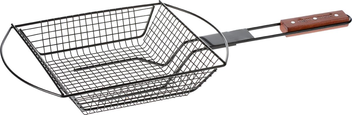 Решетка-гриль Пикничок Калифорнийская, глубокая, с антипригарным покрытием, 26,5 х 24,5 6,5 см