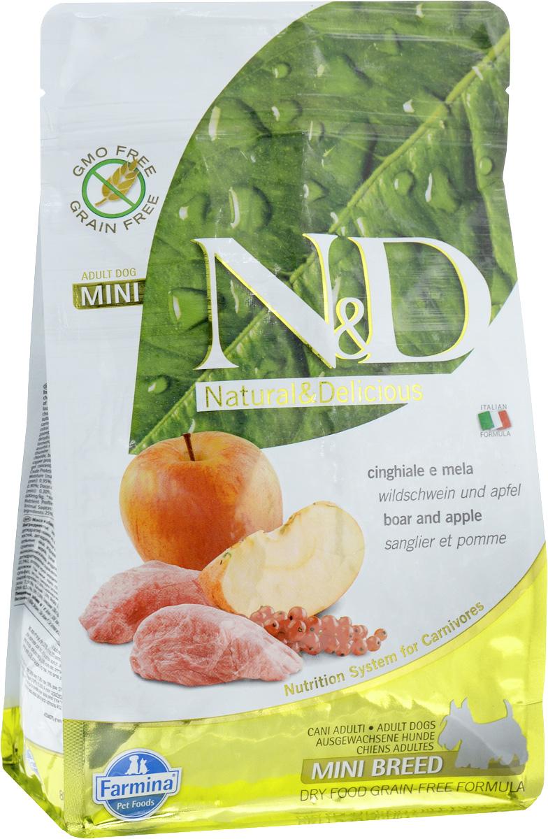 """Корм сухой Farmina """"N&D"""" для собак мелких пород, беззерновой, с кабаном и яблоком, 800 г"""
