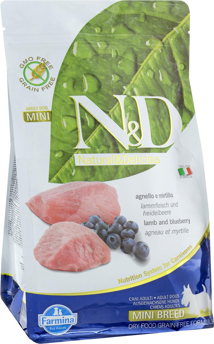 """Корм сухой Farmina """"N&D"""" для собак мелких пород, беззерновой, с ягненком и черникой, 800 г"""