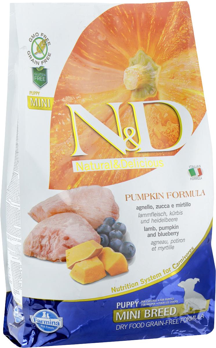 """Корм сухой Farmina """"N&D"""" для щенков мелких пород, беззерновой, с ягненком, черникой и тыквой, 2,5 кг"""