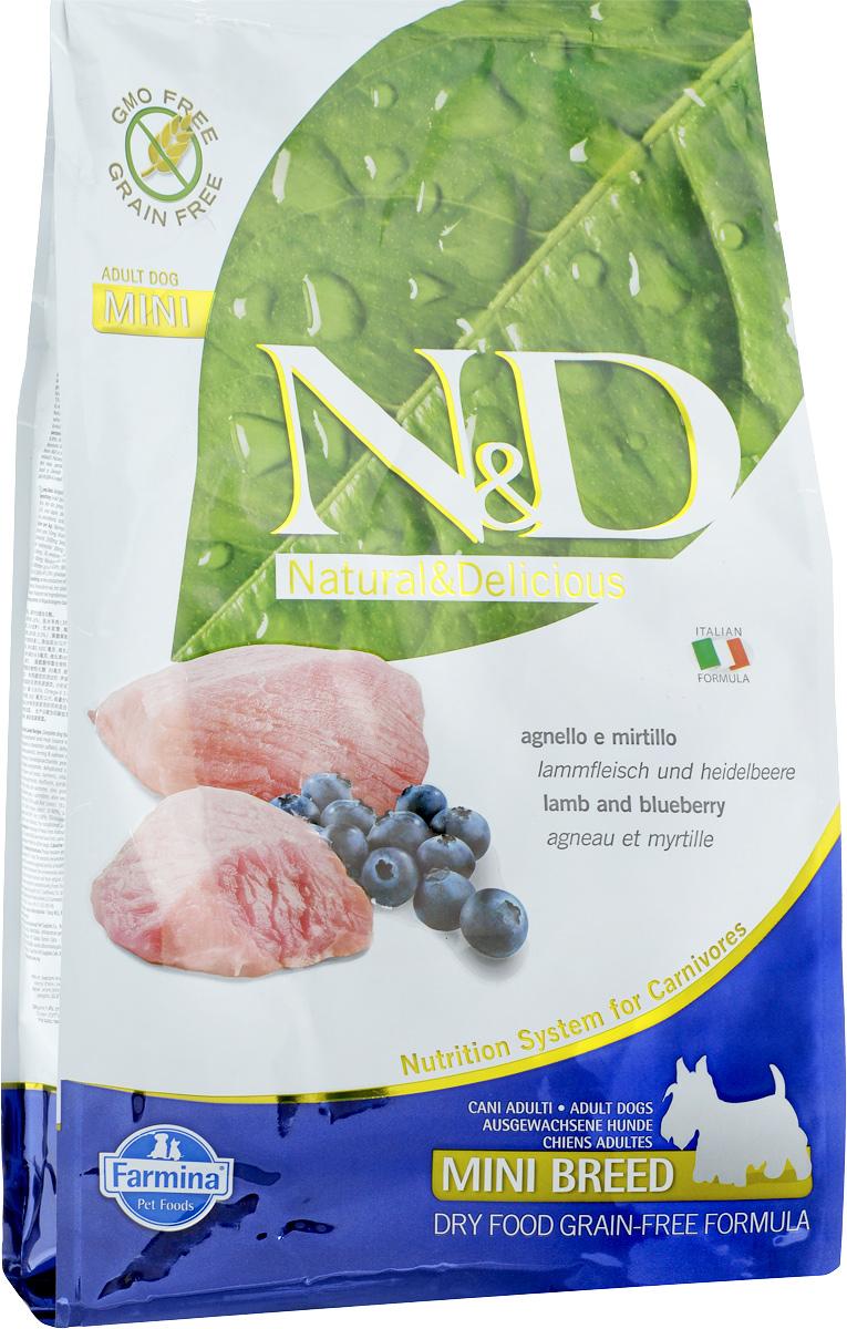 """Корм сухой Farmina """"N&D"""" для собак мелких пород, беззерновой, с ягненком и черникой, 2,5 кг"""