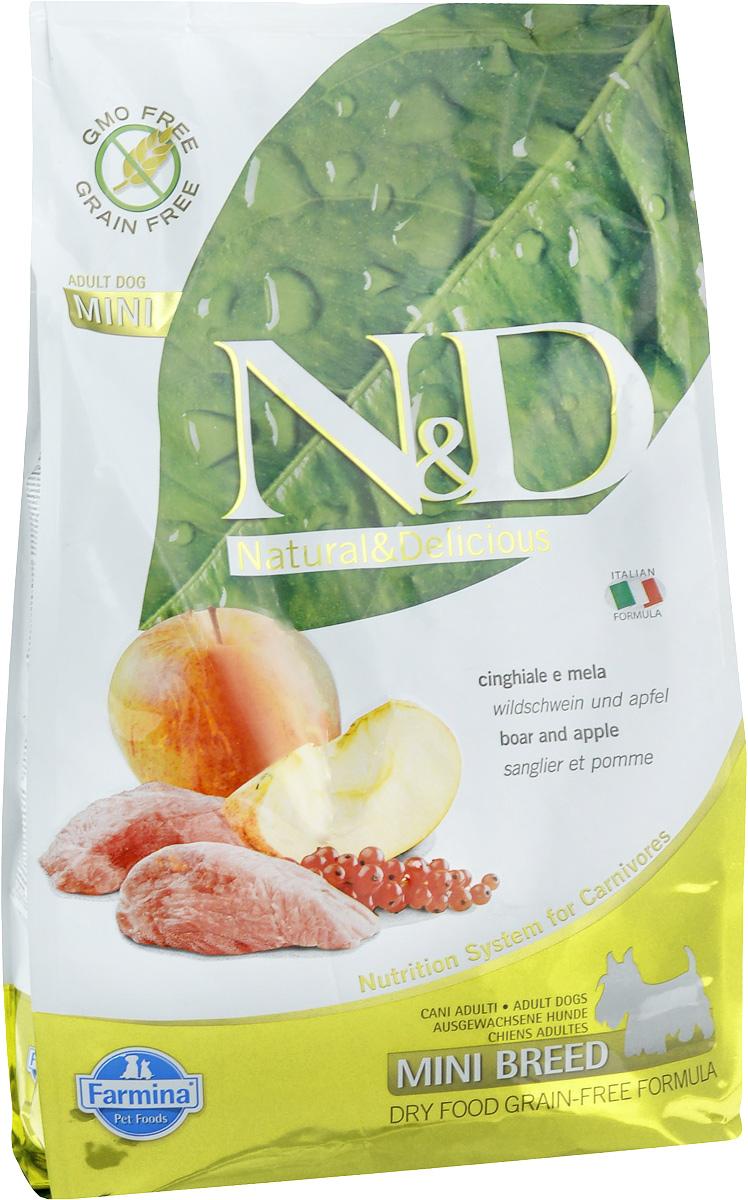 """Корм сухой Farmina """"N&D"""" для собак мелких пород, беззерновой, с кабаном и яблоком, 2,5 кг"""