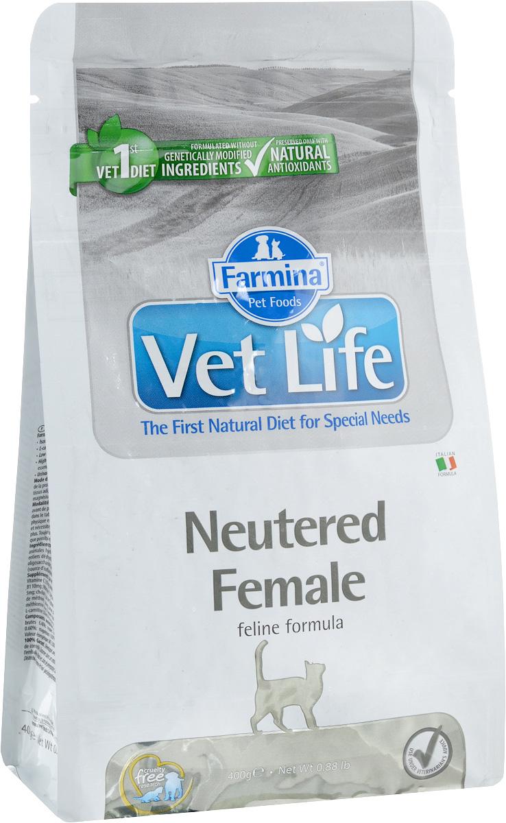 Корм сухой Farmina Vet Life для стерилизованных кошек, диетический, 400 г корм сухой farmina vet life для кошек с неблагоприятными реакциями на пищу диетический 400 г