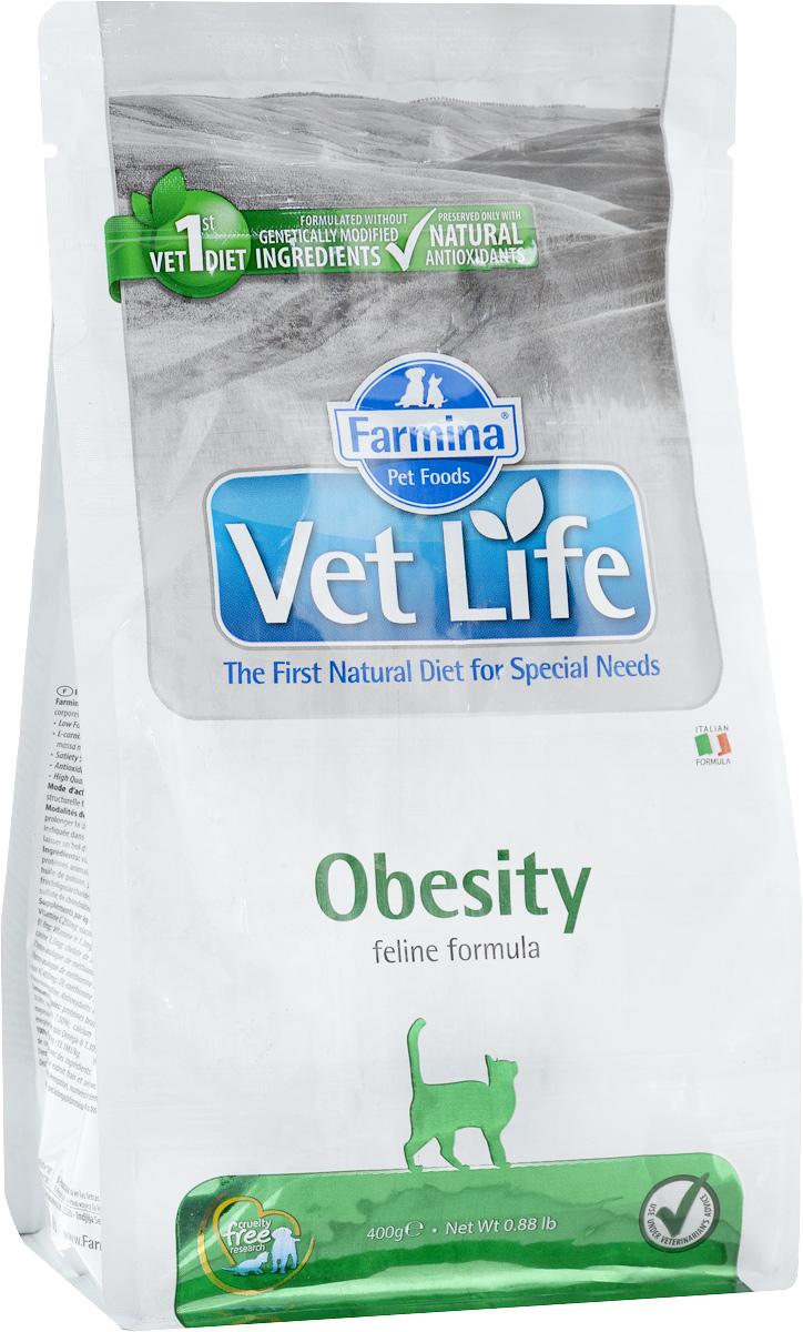 Корм сухой для взрослых кошек Farmina Vet Life, диетический, снижения излишнего веса, 400 г