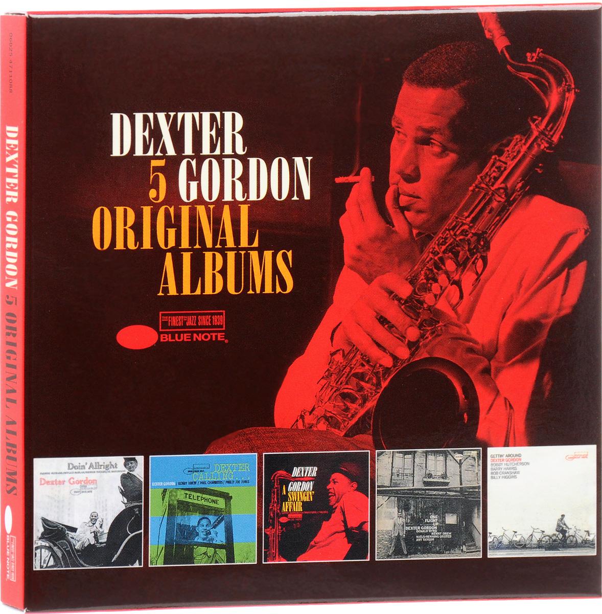 лучшая цена Декстер Гордон,Кенни Дрю,Пол Чемберс,Филли Джо Джонс Dexter Gordon. 5 Original Albums (5 CD)