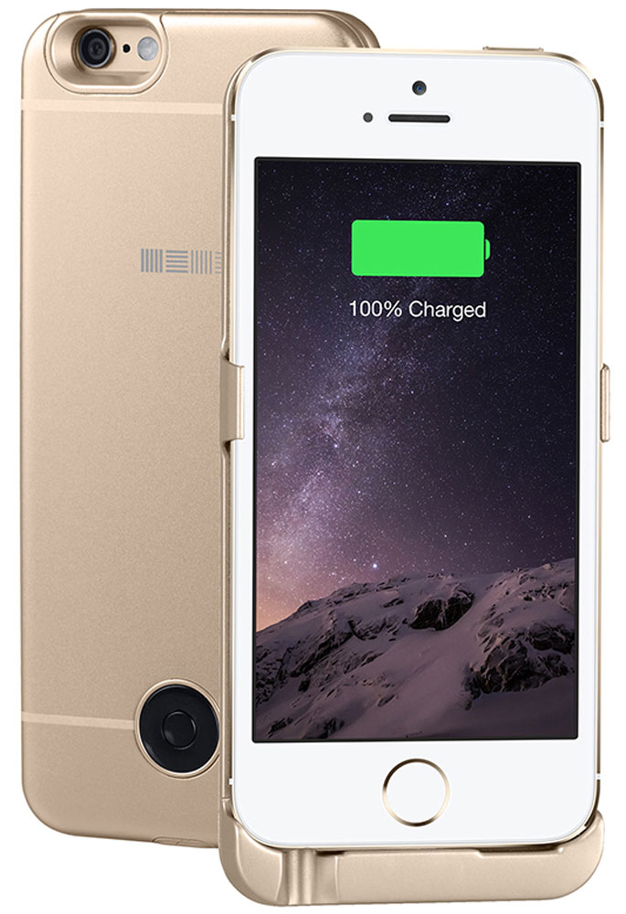 Interstep чехол-аккумулятор для Apple iPhone 5/5s/SE, Gold (2200 мАч) цена