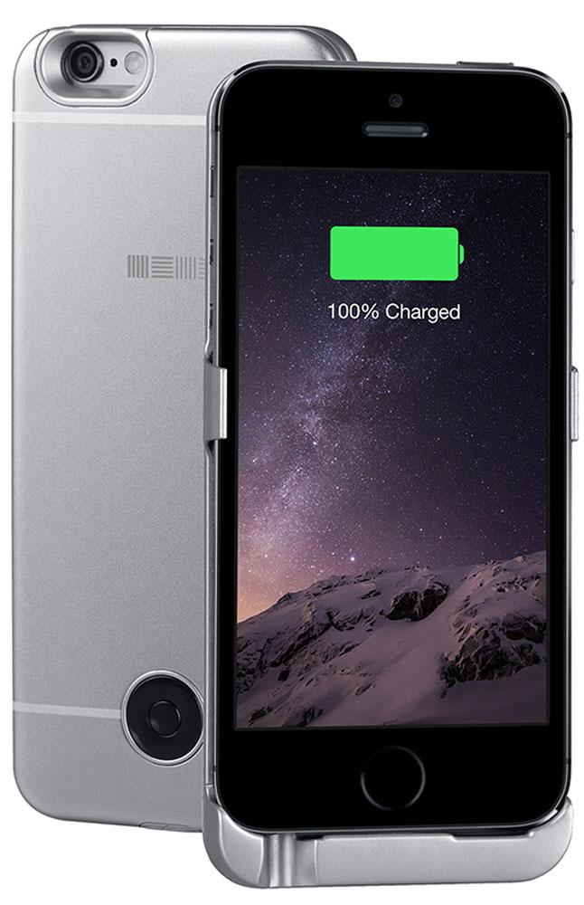 Interstep чехол-аккумулятор для Apple iPhone 5/5s/SE, Gray (2200 мАч) interstep чехол аккумулятор для apple iphone 7 6 red 3000 мач