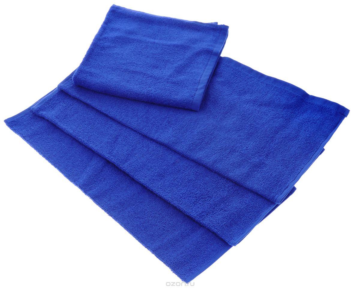 "Полотенце ""Aisha Home Textile"", цвет: синий, 50 х 90 см. УзТ-ПМ-112-08-19к"
