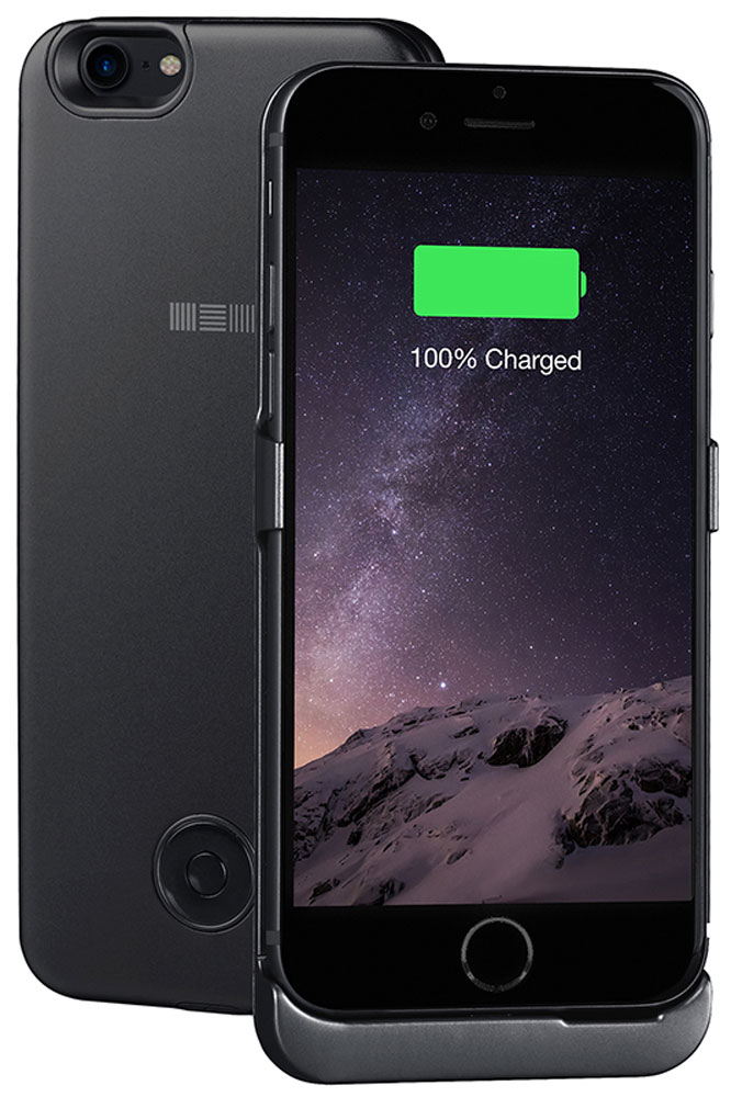 Interstep чехол-аккумулятор для Apple iPhone 7, Black (3000 мАч) interstep чехол аккумулятор для apple iphone 7 6 red 3000 мач