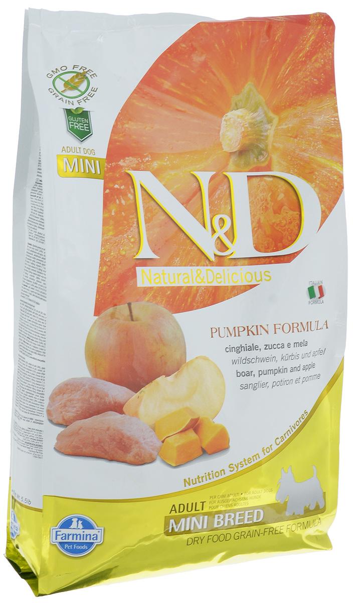 """Корм сухой Farmina """"N&D"""" для собак мелких пород, беззерновой, с кабаном, яблоком и тыквой , 2,5 кг"""