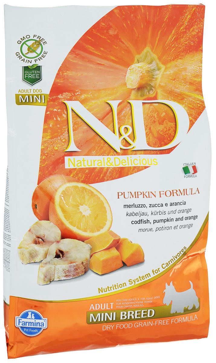 Корм сухой Farmina N&D для собак мелких пород, беззерновой, с треской, тыквой и апельсином, 2,5 кг33314Сухой корм Farmina N&D является беззерновым и сбалансированным питанием для собак мелких пород. Изделие имеет высокое содержание витаминов и питательных веществ. Сухой корм содержит натуральные компоненты, которые необходимы для полноценного и здорового питания домашних животных. Товар сертифицирован.