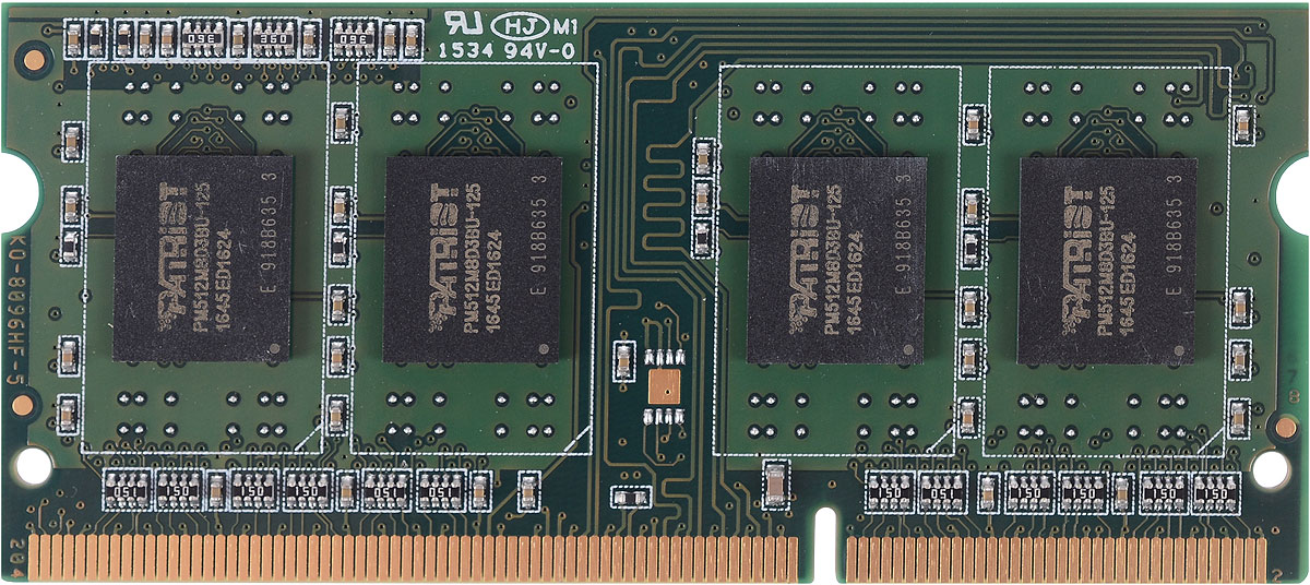 Patriot DDR3 SO-DIMM 4Gb 1600МГц модуль оперативной памяти (PSD34G1600L81S)