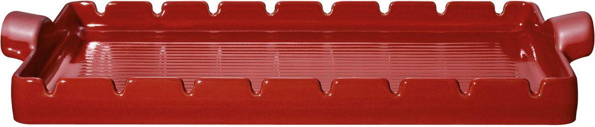 Форма для барбекю и гриля Emile Henry, с шампурами, цвет: гранат, 42 х 25 см барбекю bbq 44004b