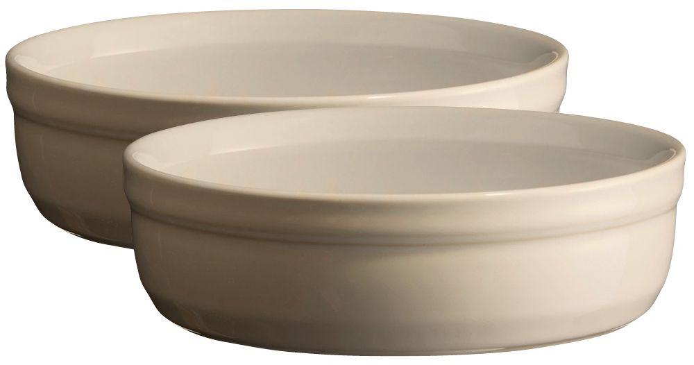 Рамекин Emile Henry, цвет: кремовый, диаметр 12 см, 2 шт рамекин emile henry цвет гранат диаметр 8 5 см 2 шт