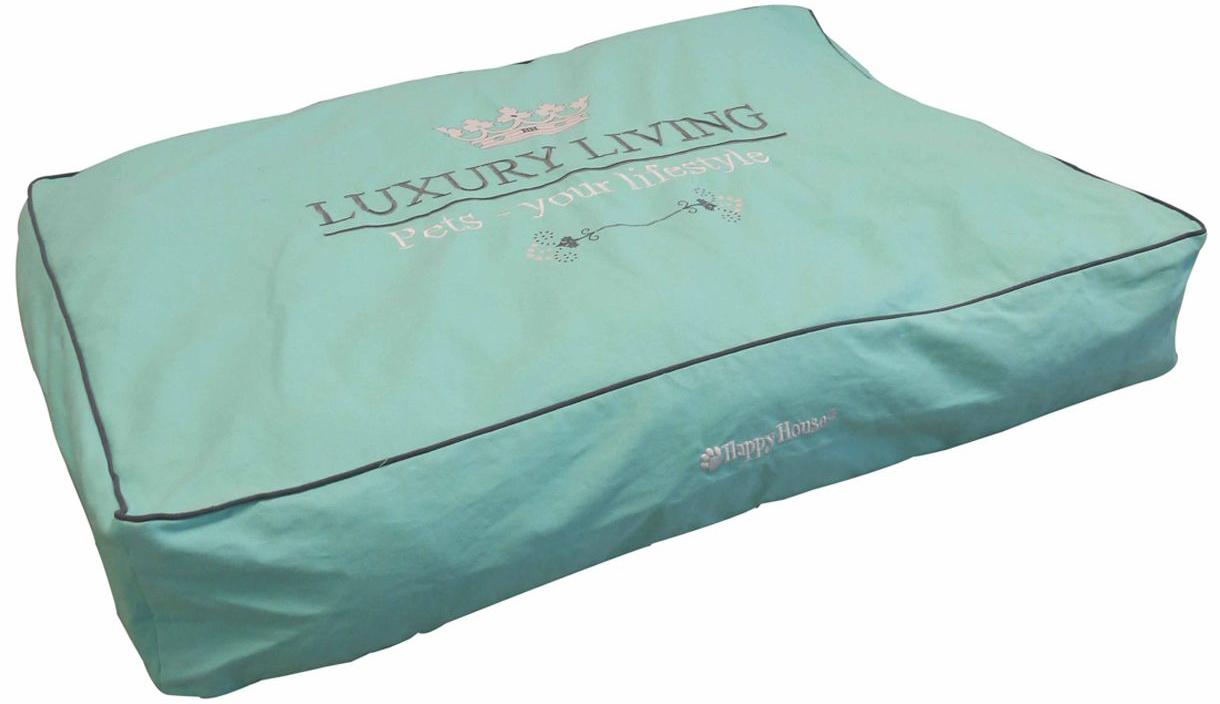Подушка для животных Happy House Luxsury Living, цвет: мятный, 95 х 65 х 15 см лежак для животных happy house luxsury living цвет пурпурный 41 х 38 х 36 см