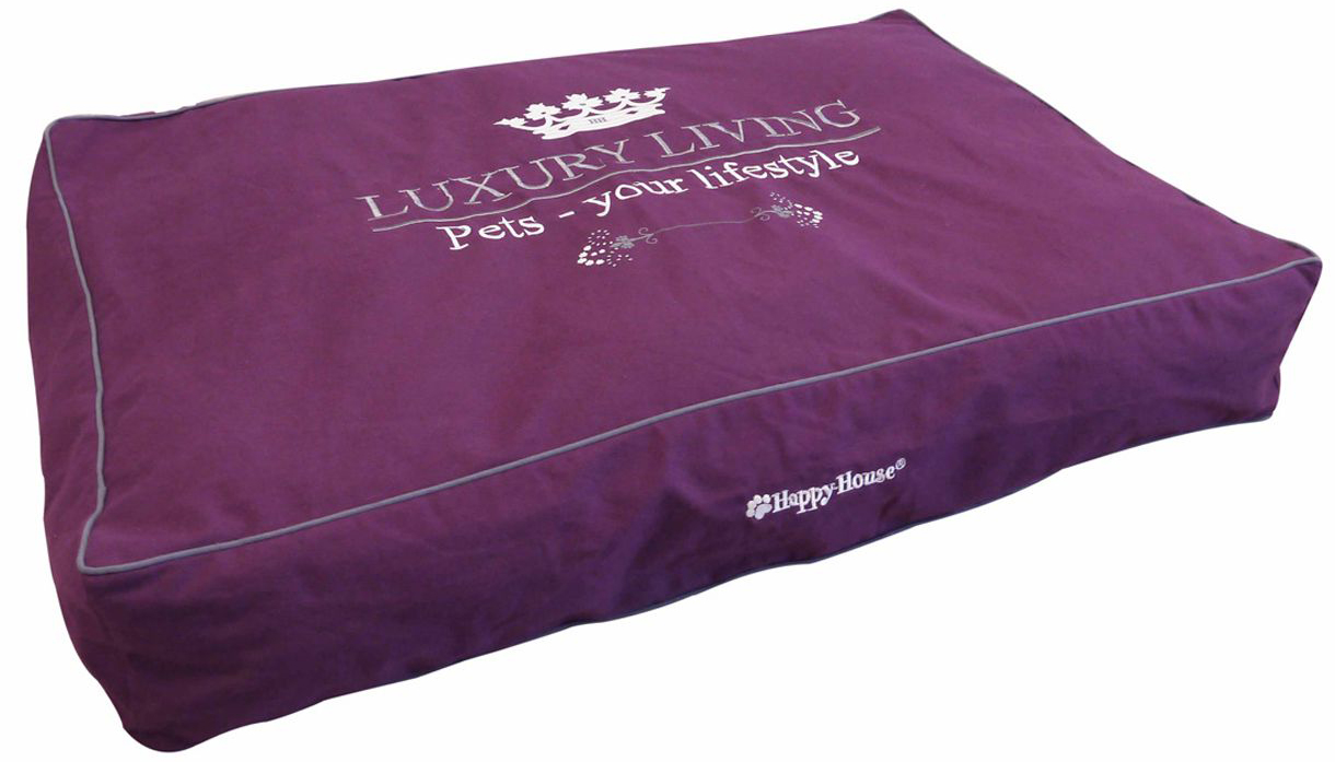 Подушка для животных Happy House Luxsury Living, цвет: пурпурный, 110 х 75 х 15 см лежак для животных happy house luxsury living цвет пурпурный 41 х 38 х 36 см