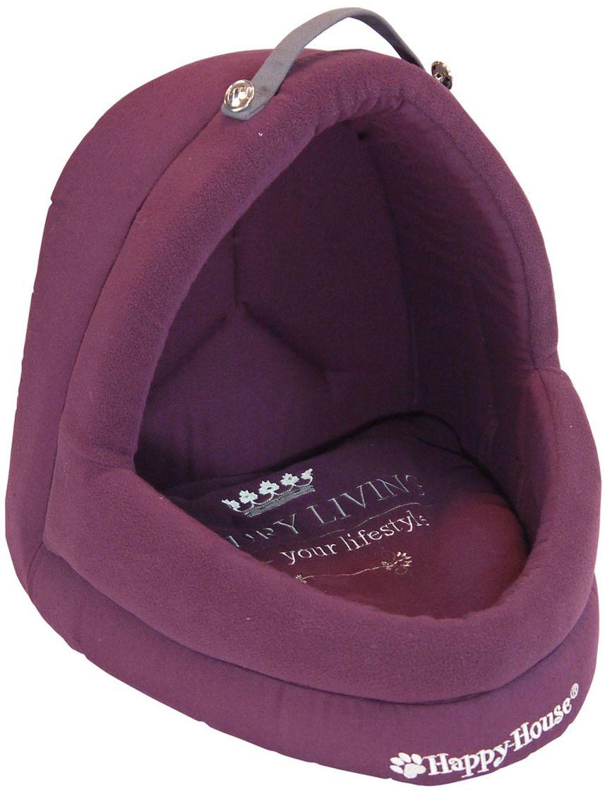 Лежак для животных Happy House Luxsury Living, цвет: пурпурный, 41 х 38 х 36 см лежак для животных happy house luxsury living цвет пурпурный 41 х 38 х 36 см