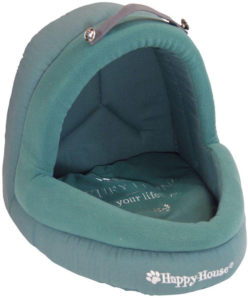 Лежак для животных Happy House Luxsury Living, цвет: сине-зеленый, 41 х 38 х 36 см лежак для животных happy house luxsury living цвет пурпурный 41 х 38 х 36 см