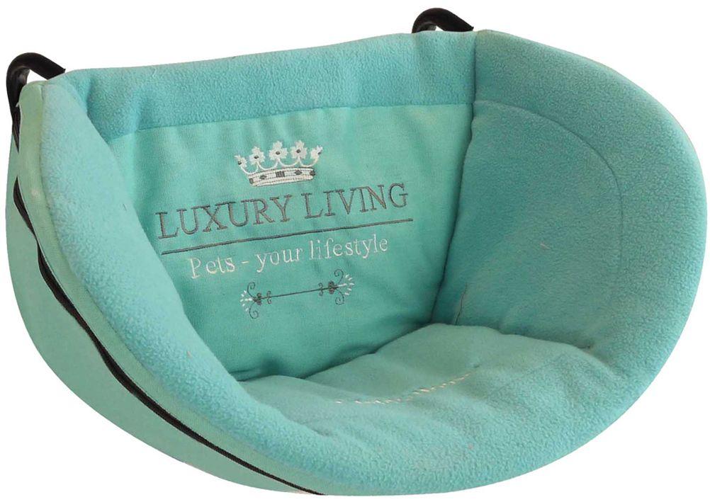 Лежак для животных Happy House Luxsury Living, на радиатор, цвет: мятный, 30 х 48 х 30 см лежак для животных happy house luxsury living цвет пурпурный 41 х 38 х 36 см
