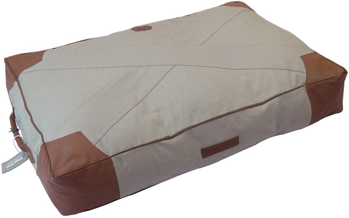 Подушка для животных Happy House Classical Canvas, цвет: темно-серый, 95 х 65 х 15 см поводок для собак happy house luxury цвет темно коричневый длина 125 см