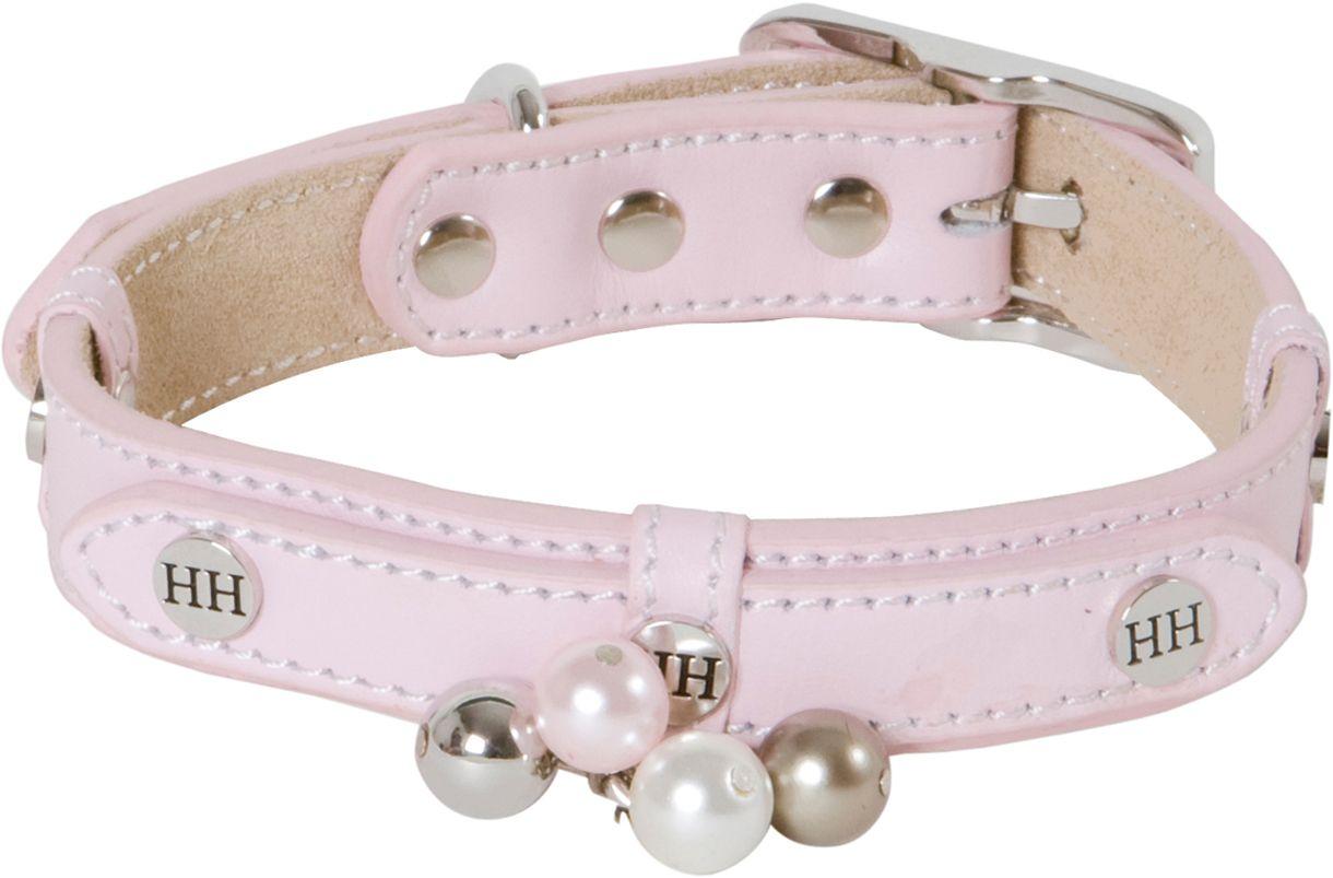 "Ошейник для собак Happy House ""Beads"", цвет: розовый, обхват шеи 33-39 см, ширина 2 см. Размер S"
