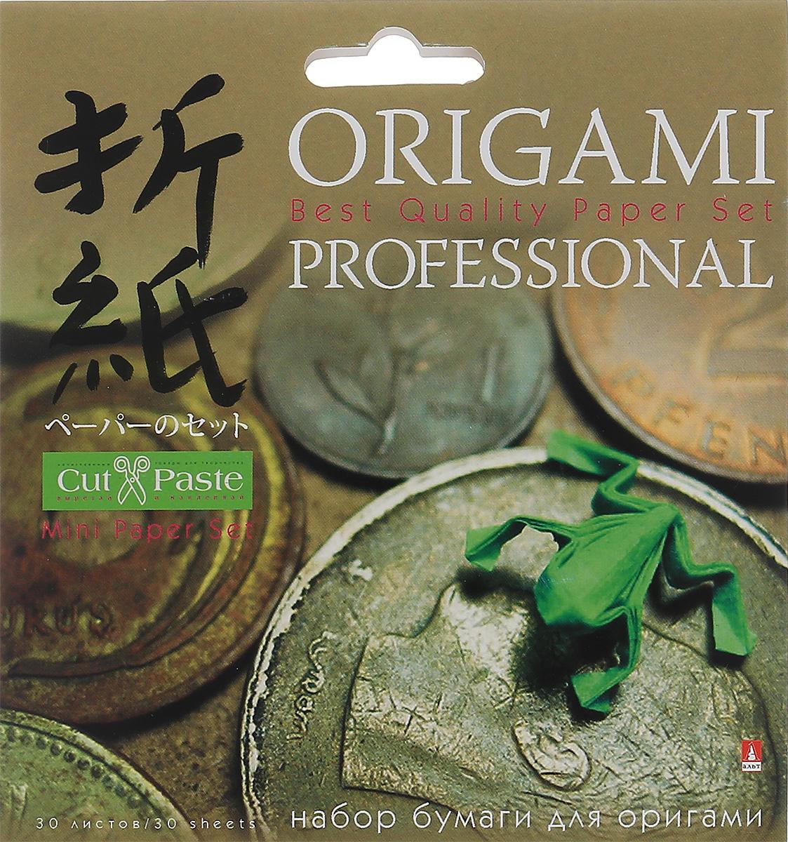 Альт Набор цветной бумаги для оригами Лягушка 30 листов