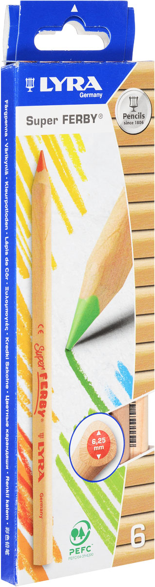 Lyra Набор цветных карандашей Ferby Nature 6 шт