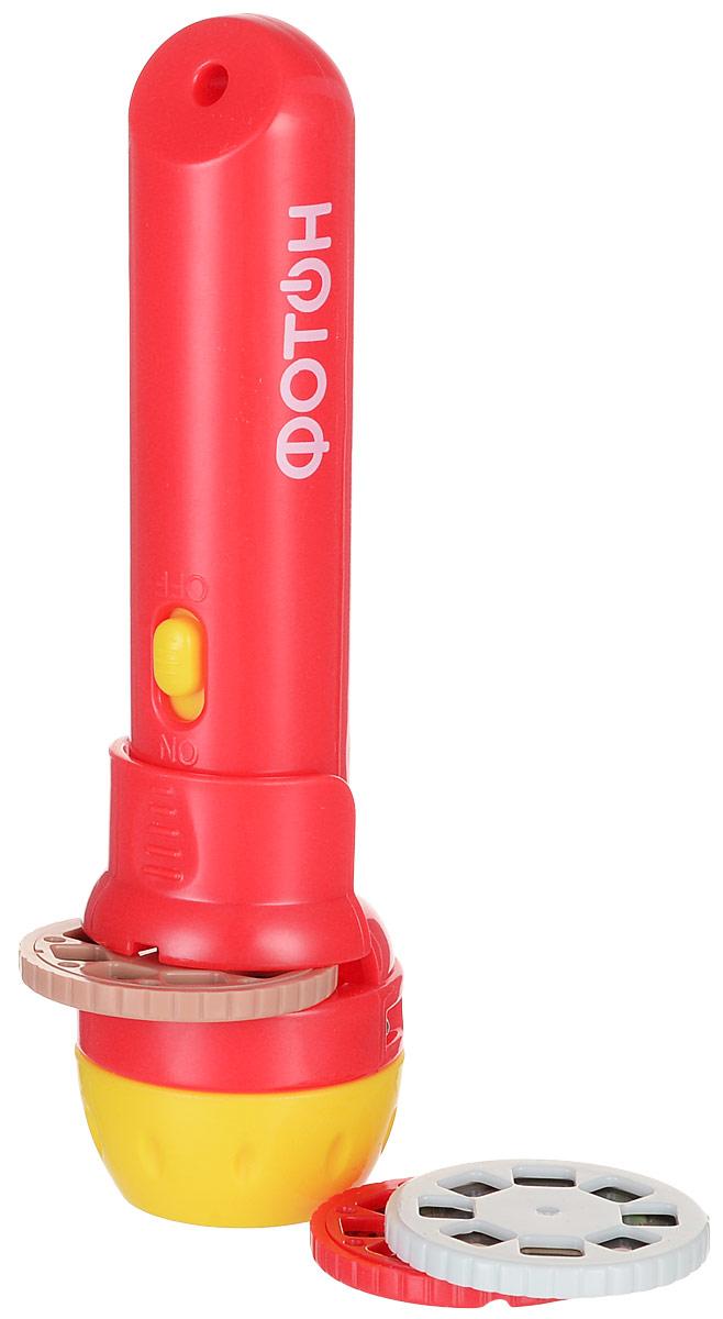 Фотон Мультфонарик с дисками Любимые сказки цвет красный фотон мультфонарик брелок тигруля