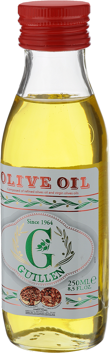 Guillen масло оливковое 100%, 250 мл оливковое масло ranieri sansa рафинированное в жестяной банке 5 л италия