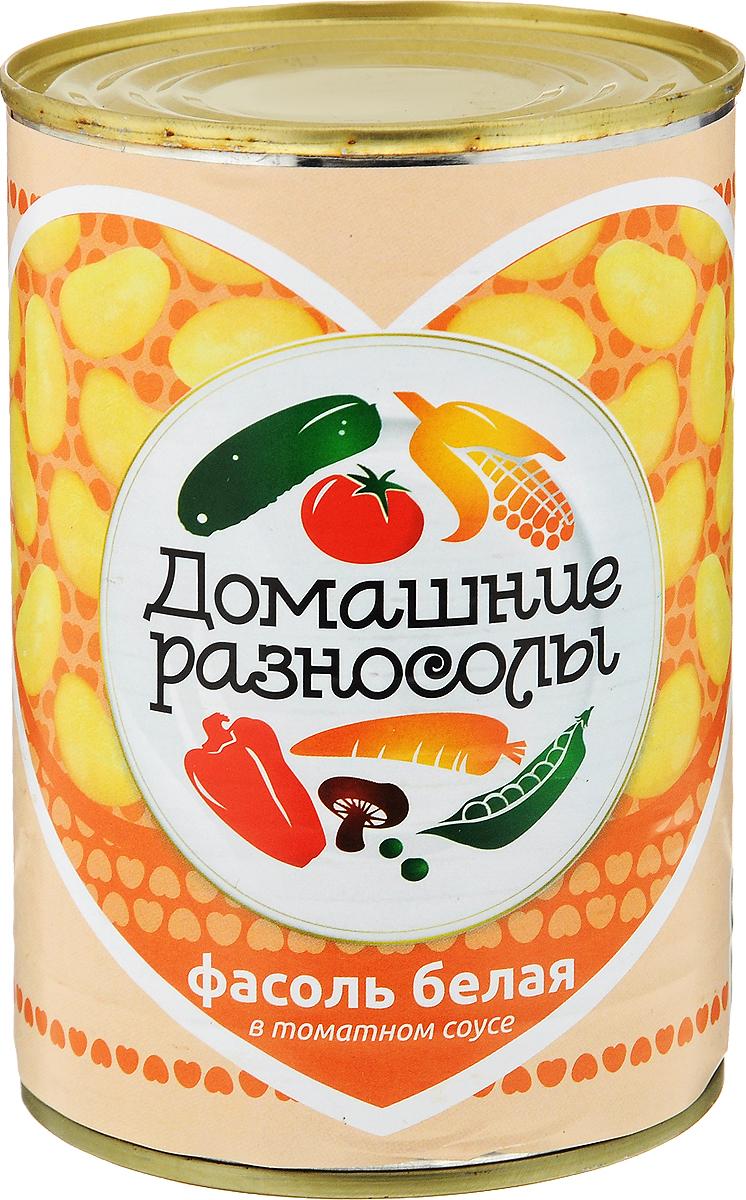 Домашние разносолы фасоль белая в томатном соусе, 425 мл домашние разносолы перец маринованный пепперони 720 мл
