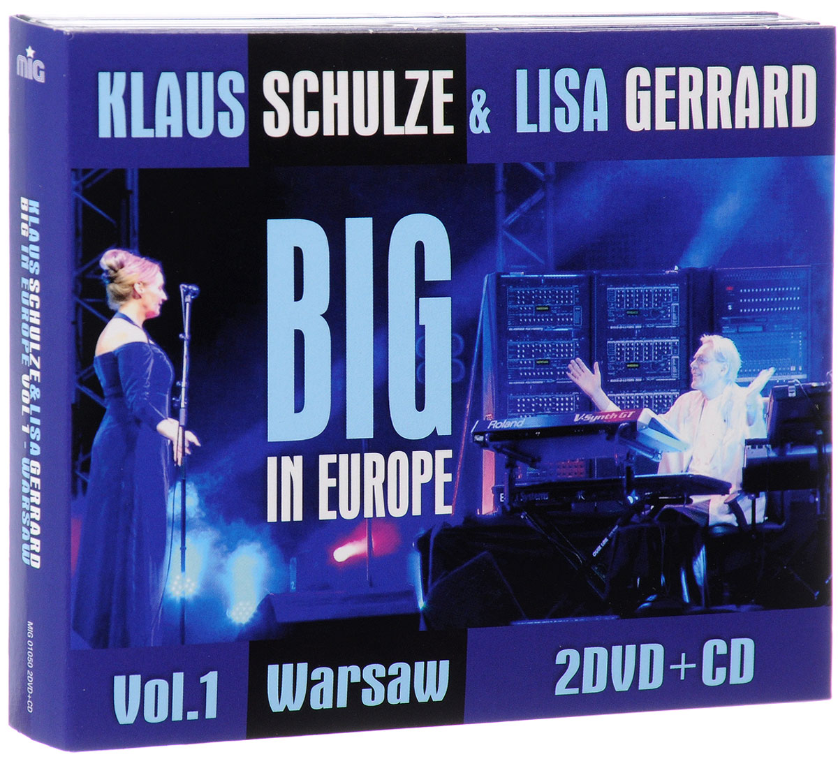 Клаус Шульце,Лайза Джеррард Klaus Schulze & Lisa Gerrard. Big In Europe. Vol. 1. Warsaw (CD + 2 DVD) недорго, оригинальная цена