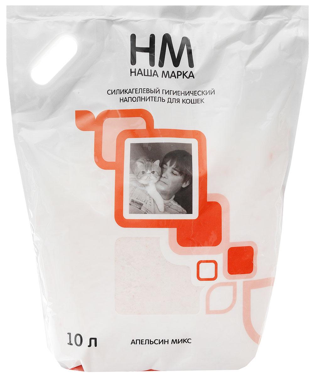 цена на Наполнитель для кошачьего туалета Наша Марка Апельсин, силикагелевый, с ароматом апельсина, 10 л