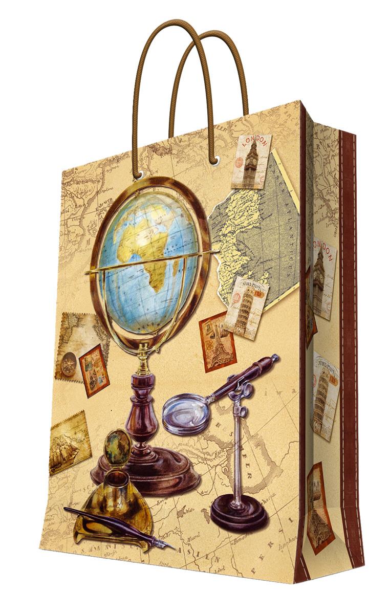 Пакет подарочный Феникс-Презент Глобус, 26 х 12,7 х 32,4 см пакет подарочный феникс презент каток 26 х 33 х 13 см