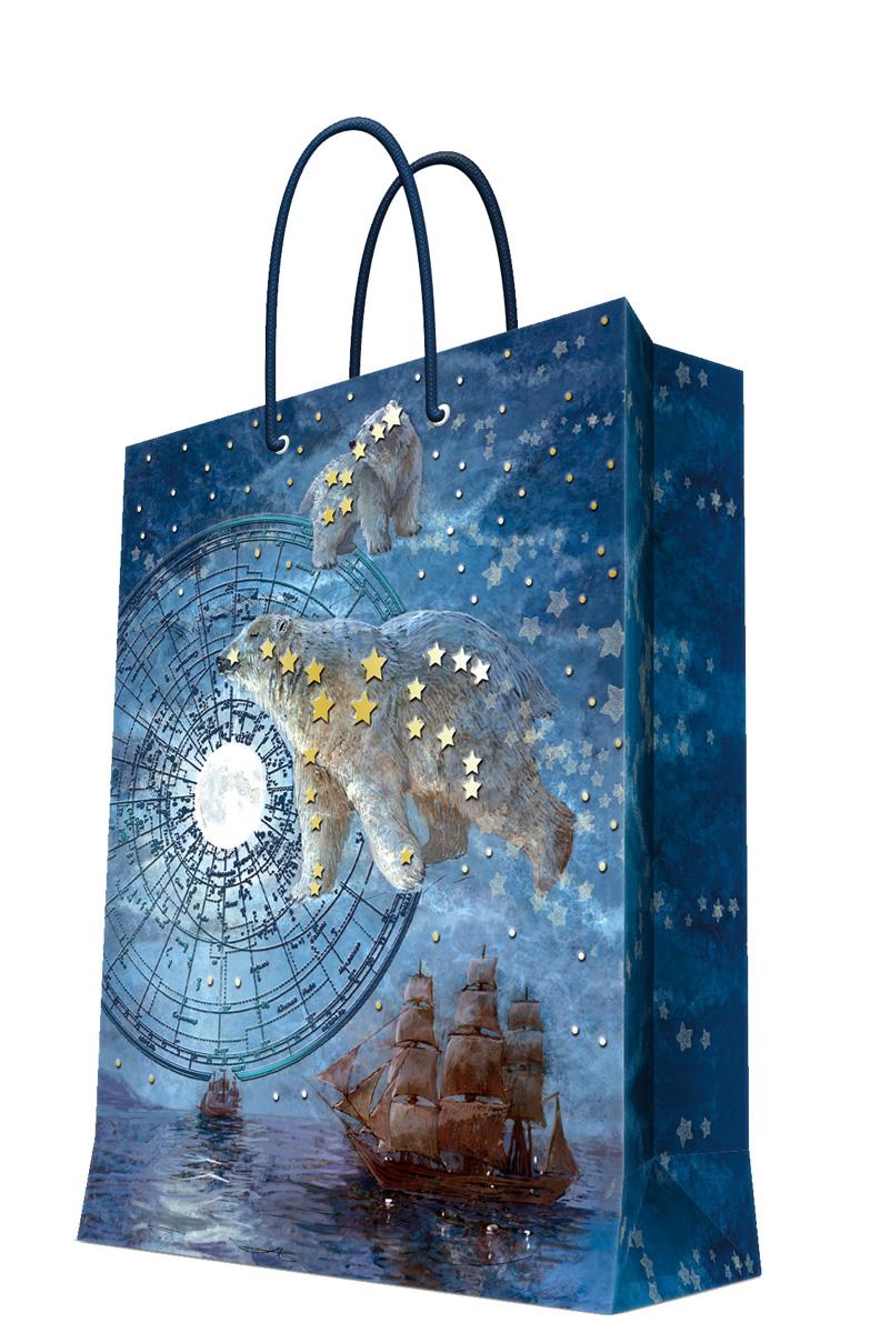 Пакет подарочный Magic Home Большая медведица, 26 х 32,4 х 12,7 см пакет подарочный а4 26 32 12 7см новогодние часыбумажный с ламинацией 140 г м2 75312