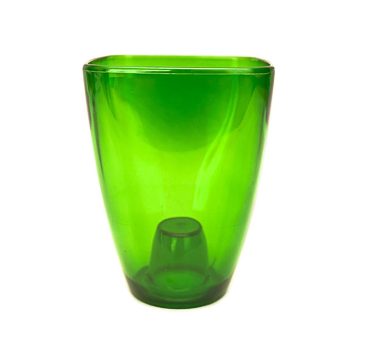 цена на Кашпо для орхидей Form-Plastic Орхидея, цвет: зеленый, 13 х 13 х 17 см