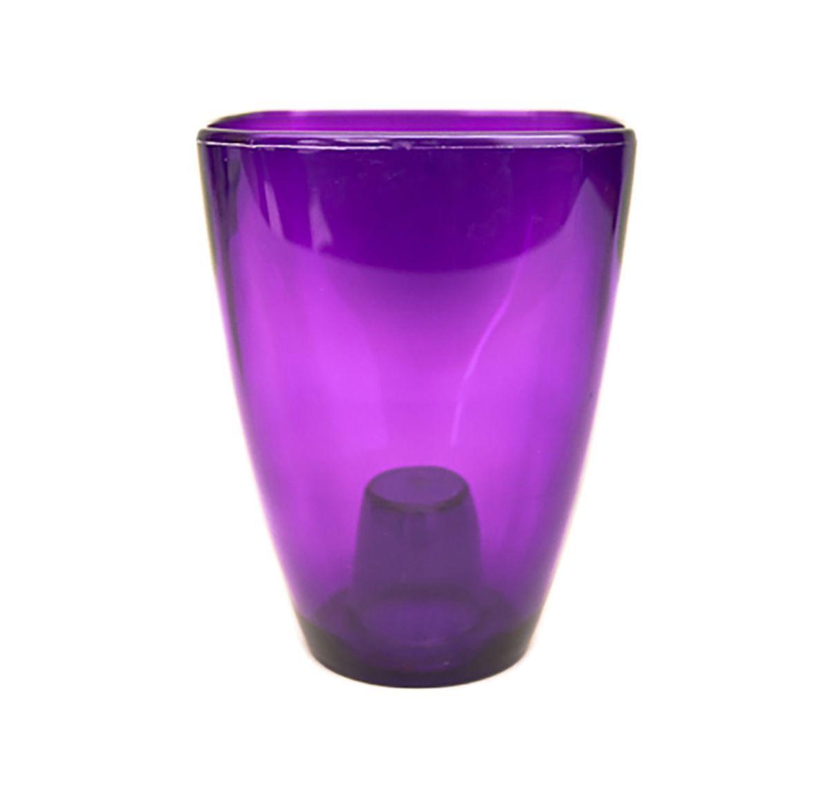 цена на Кашпо для орхидей Form-Plastic Орхидея, цвет: фиолетовый, 10 х 10 х 16,5 см