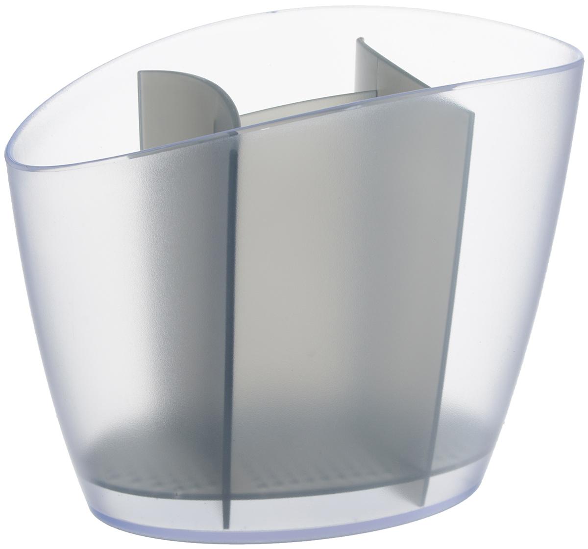 "Сушилка для столовых приборов Tescoma ""Clean Kit"", цвет: серый, 19,5 х 11 х 15,5 см"